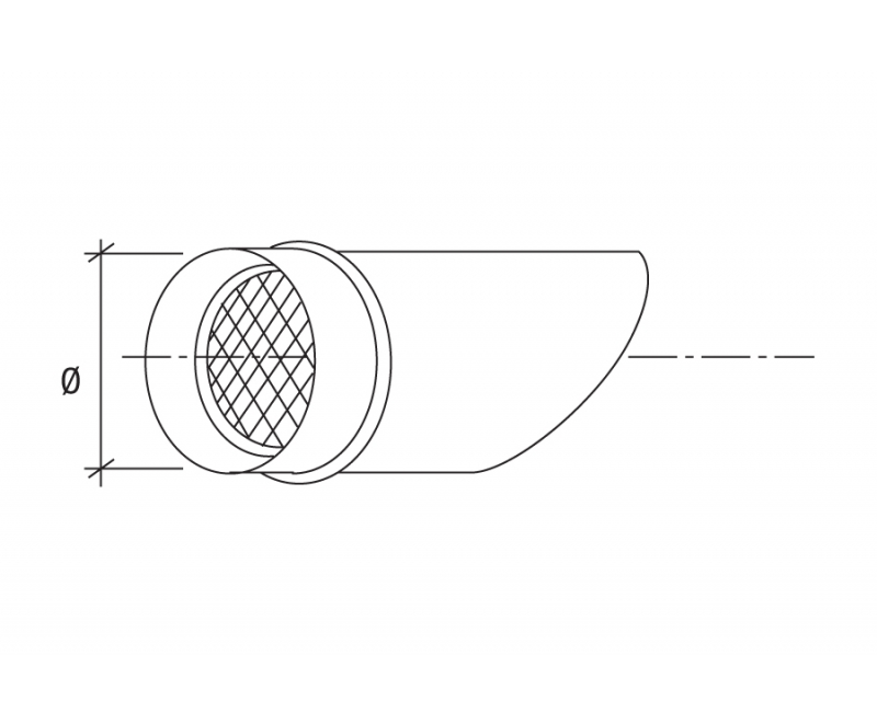 Inox Pipe with Wire Net